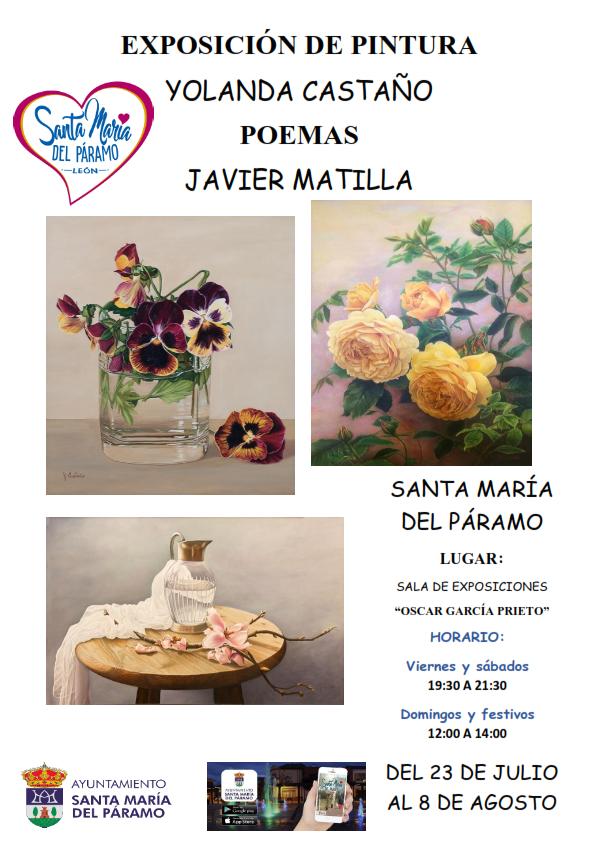 Exposicion de Pintura y Poemas del 23 julio al 8 de agosto