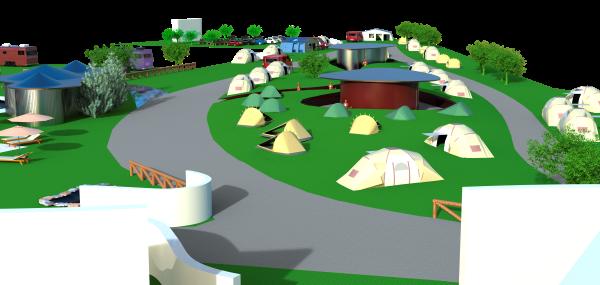 3.- Zona acampada
