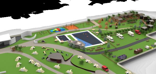 1.- Vista aerea Camping